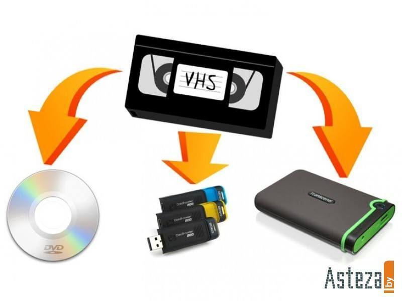Перезапись на диск или на переносной хард с видеокассет за 1000 тг