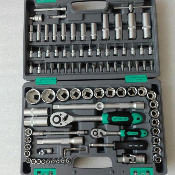 STELS Набор инструментов. Набор ключей. Набор головок.
