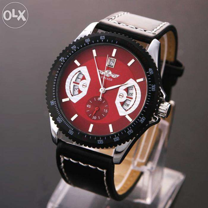 Ceas Winner Tachymetre Militar Army EXCLUSIVE FULL AUTOMATIC RED