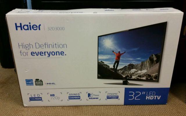 """Tv Haier 32"""" Novo na caixa!"""