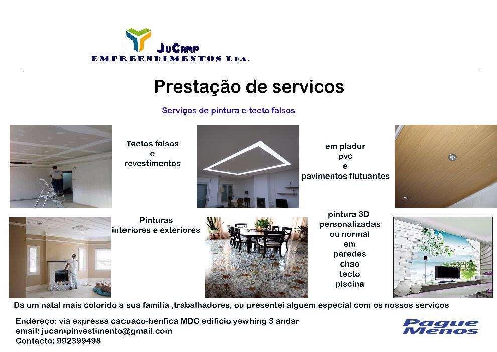prestação de serviços e remodelações
