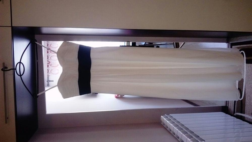бяла официална дълга рокля