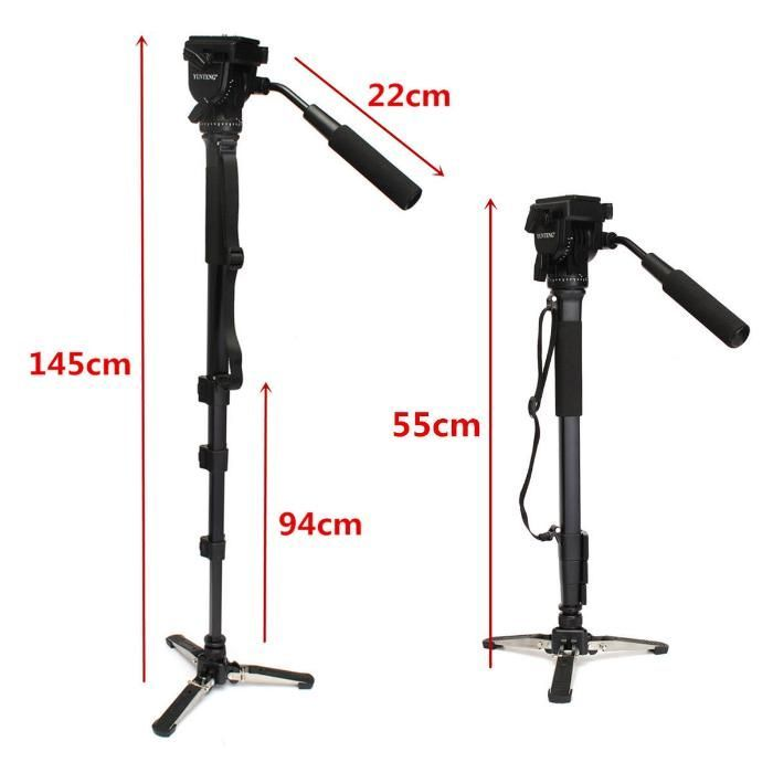 Yunteng VCT-288 Aluminium Monopod + Video Head, Ieftin, Factura .