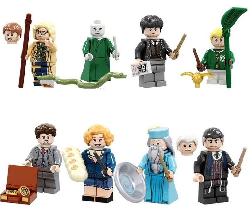 Set 8 Minifigurine tip Lego Harry Potter cu Mad Eye Moody