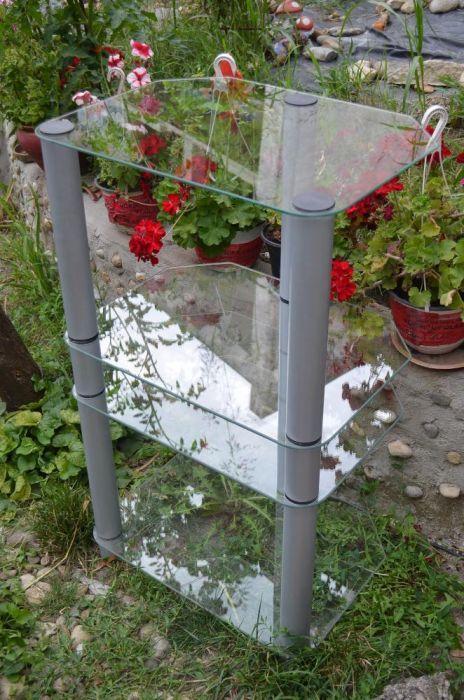 rack audio hifi hi-end raft suport electonice din sticla