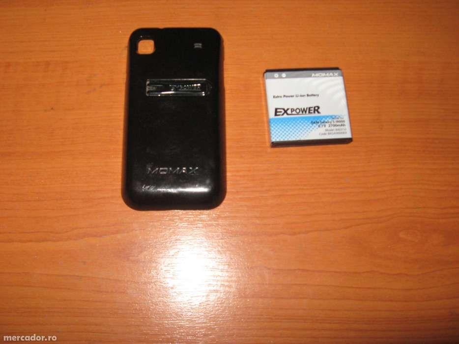 Acumulator MOMAX 2700 mAh si capac spate Momax Samsung Galaxy S plus