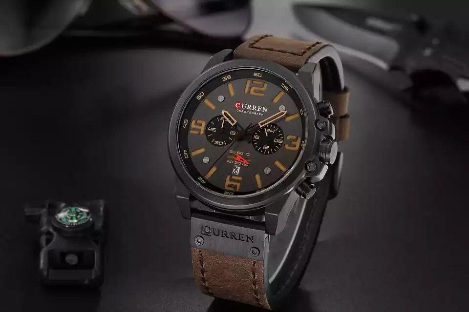 Relógio de couro Curren 8314