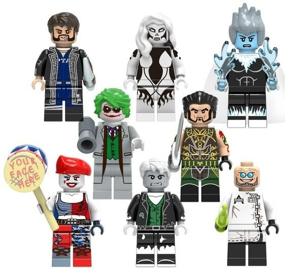 Set 8 Minifigurine tip Lego Batman cu Harley Quinn si Killer Frost