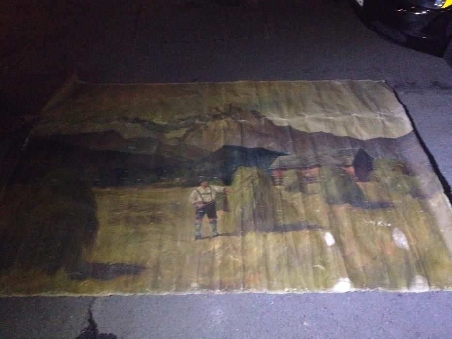 tablou ulei panza veche foarte mate 266 cm - 192 cm