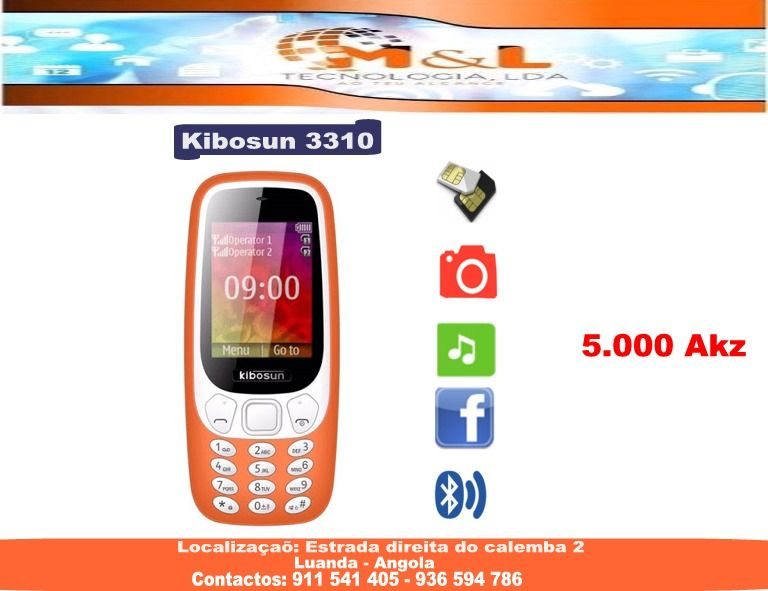 Telemovel Kibosun 3310 Novo Kilamba - Kiaxi - imagem 1