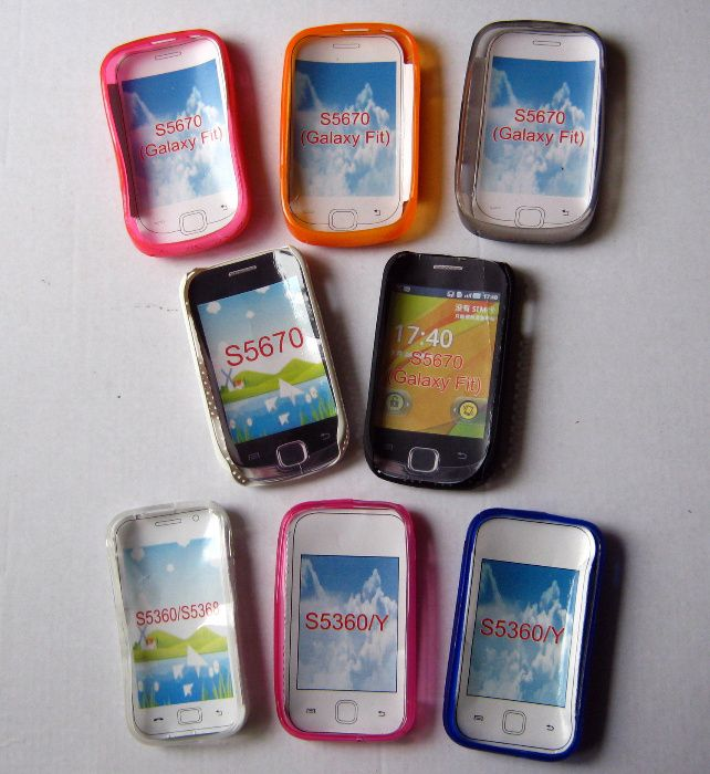 Husa protectie SAMSUNG Galaxy Fit S5670 si Y S5360, dif. modele +folie