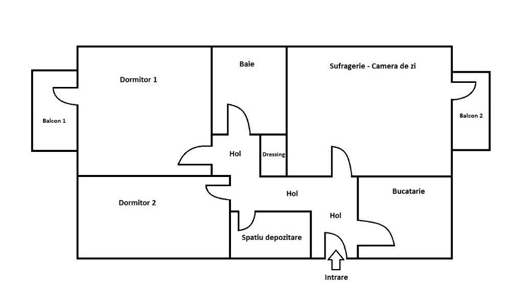 Apartament 3 camere Suceava Burdujeni