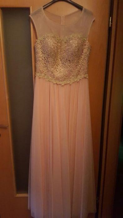 Rochie lunga roz