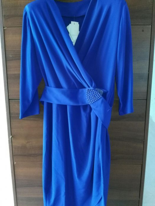 Rochie ocazie de seara albastra lunga masura 44-46 L/XL