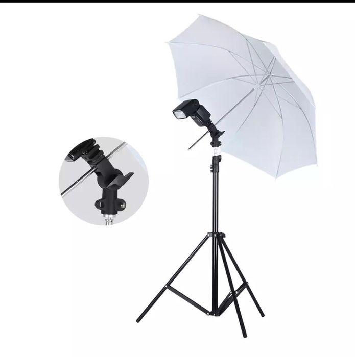 Iluminação Fique Kit + 1 Suporte de Flash Speedlight Guarda-chuva B +