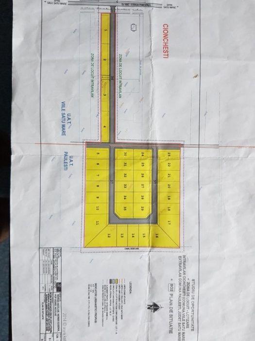 Vanzare  terenuri constructii Satu Mare, Cionchesti  - 1000 EURO