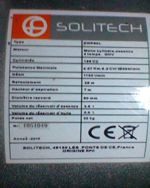 Motopompa Solitech de 3''