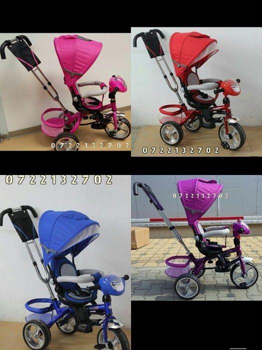 TRICICLETE Baby Land (4 culori) cu scaun rotativ model TS 5566