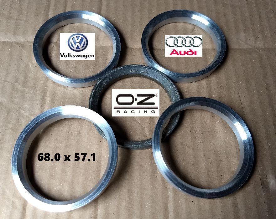 Inele de centrare aluminiu Jante OZ la ∅ 57.1 pt. VW Audi Seat Skoda