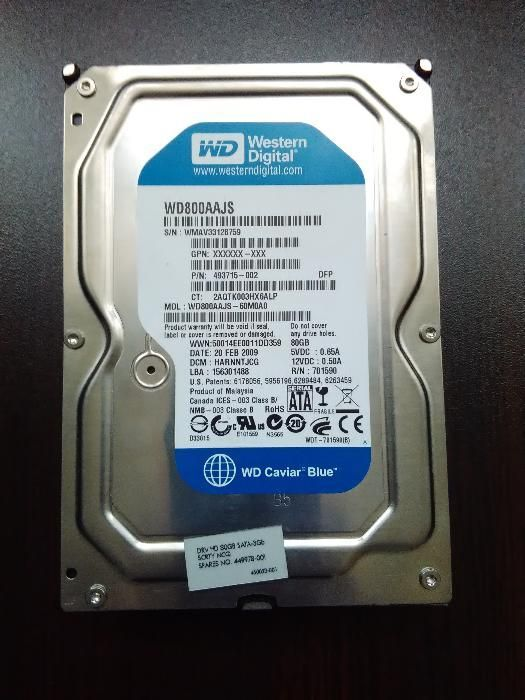 Хард Диск WD800AAJS 80 GB