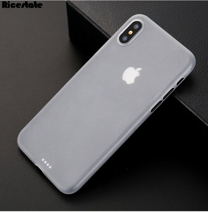 Husa Ultra Slim Plastic Mate Semi Transparent - Iphone X 10 7 8