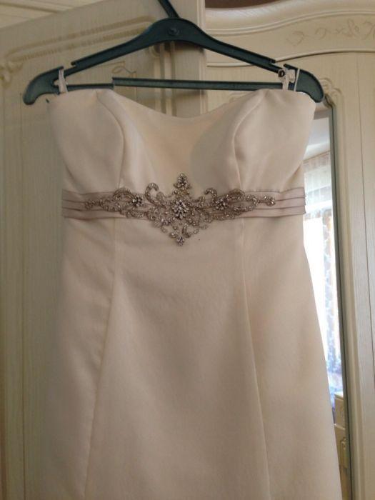 Свадебное платье с болеро и туфлями