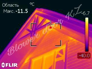Поиск утечек тепла.Тепловизионное обследование тепловизор+аэродверь.