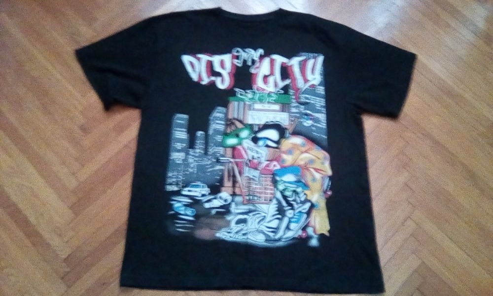 tricou gangsta/hip-hop/urban dig my city