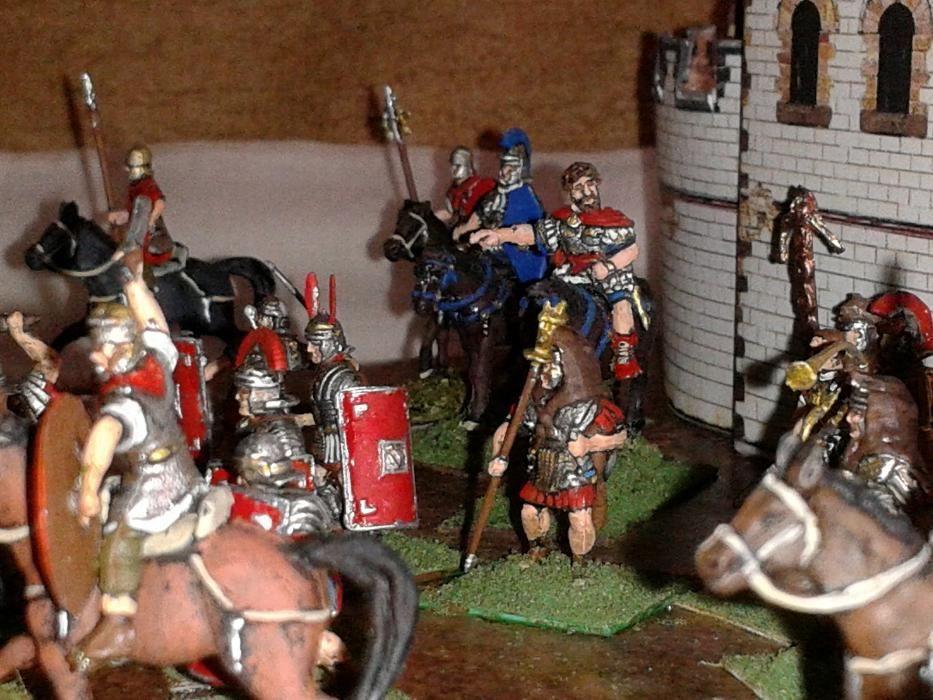 daci si romani 1:72, diorama cu macheta castru roman