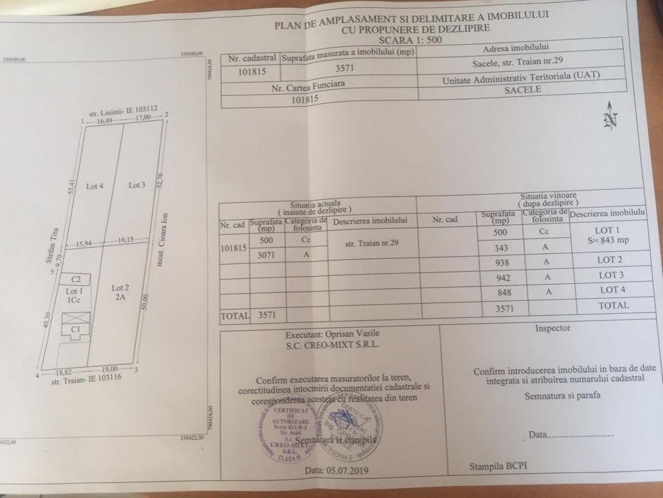 Vanzare  terenuri constructii  3700 mp Constanta, Sacele  - 0 EURO