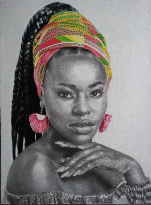 Pinturas feitas em preto e branco. (especial para o mes da mulher)