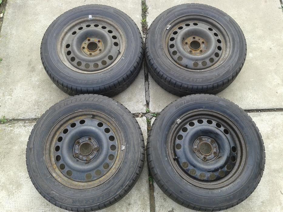 Jante Opel 5x110 R15 anv. iarna Bridgestone 195/65/15 pr. 6,5-7mm 4711