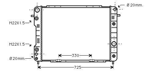 радиатор НОВ за Опел Омега В 95'> 2.5ТД