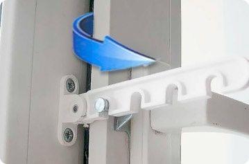 Ограничитель проветривания на окна. Защита от сквозняков и ветра.