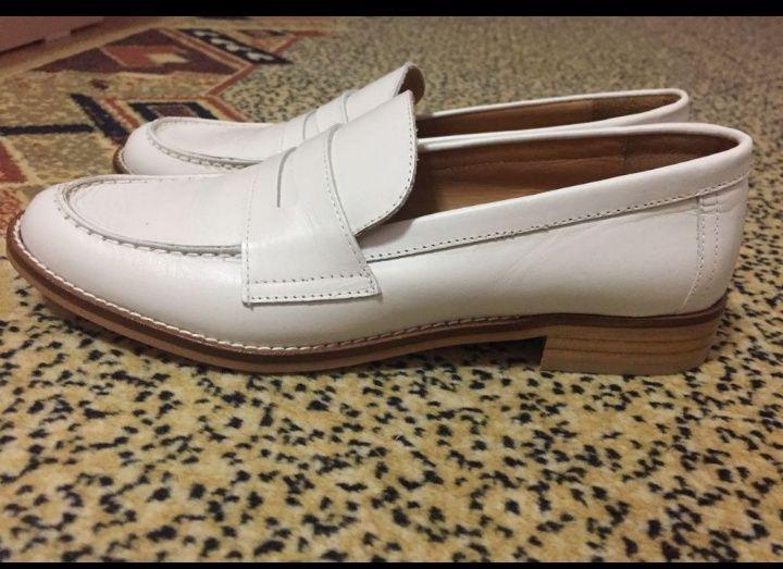 Продам кожаные туфли-лоферы
