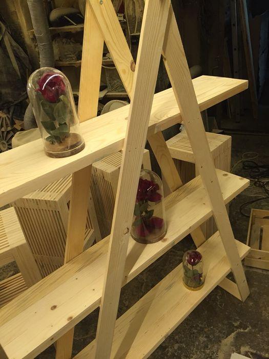 Етажерка тип стълба ръчна изработка