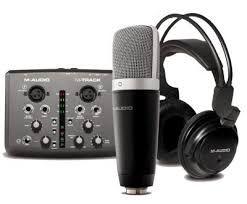 Placa m audio interface usb track com microfone