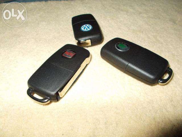 Carcasa cheie briceag ORIGINALA cu logo VW ,SKODA, SEAT 2 butoane
