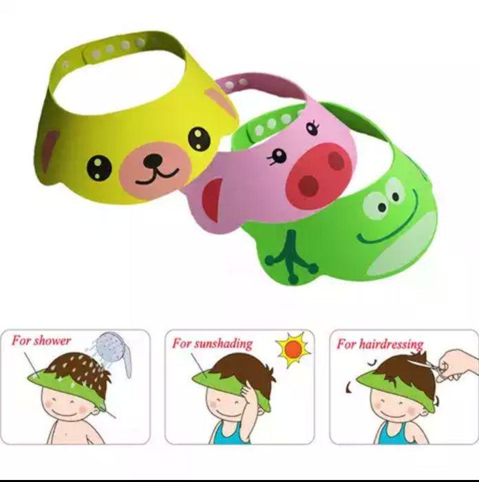 Предпазна козирка шапка за баня за къпане на деца