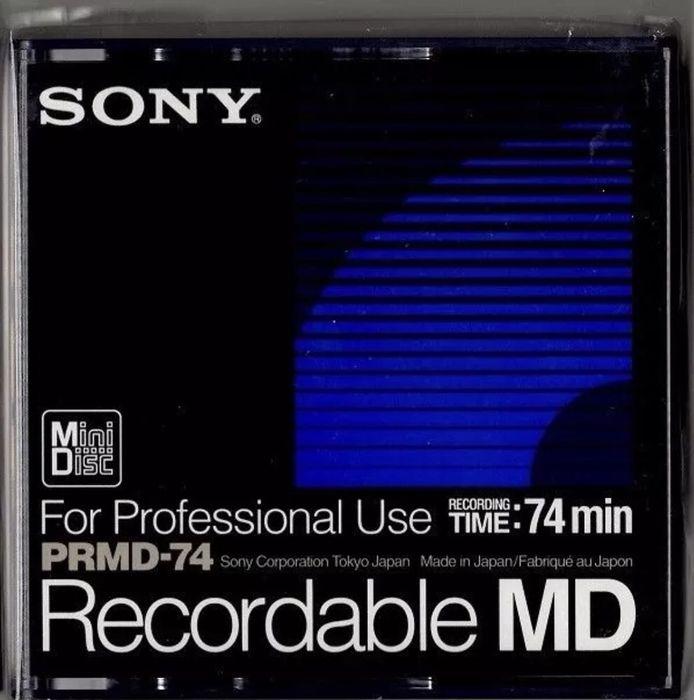 Мини диски Sony MD PRMD-74 для профессиональной записи звука (Japan)