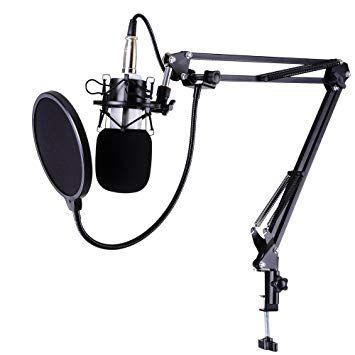 Microfon studio BM700 + stativ + pop filtru, DJ, Jocuri, Vlogger,audio