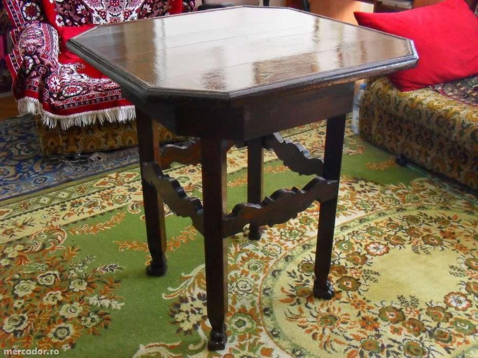 Masa veche in stil rustic din lemn masiv