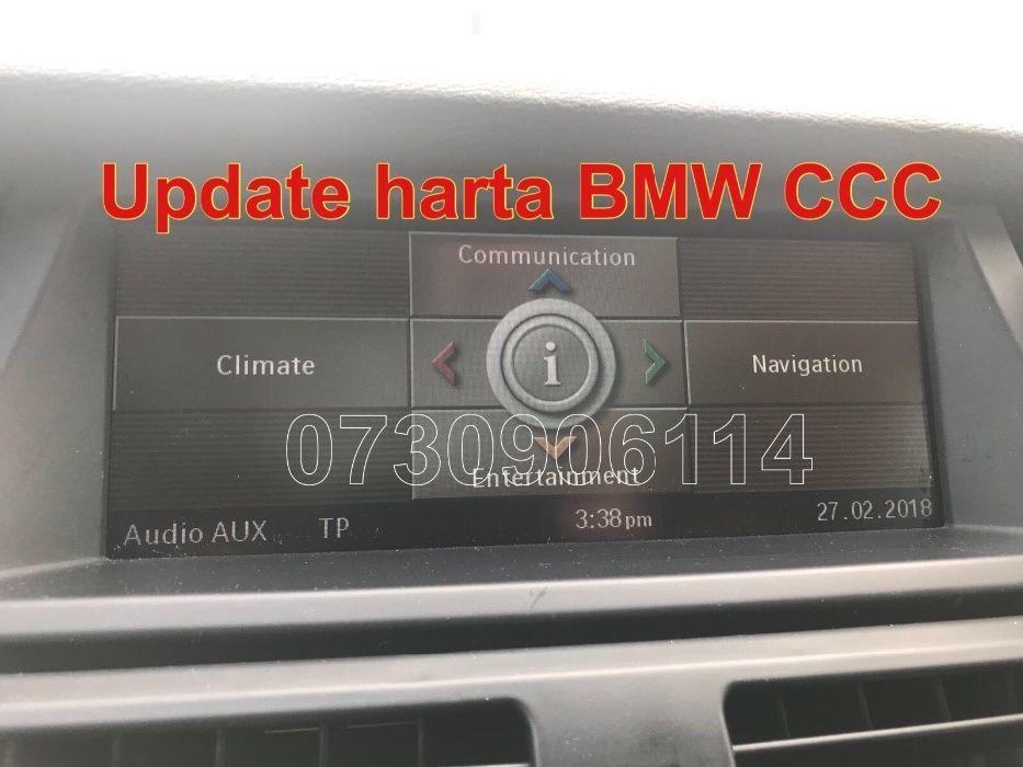DVD Harta Navigatie BMW CCC seria 3,5,X5 E87 E90 E91 E60 E61 E70 2018