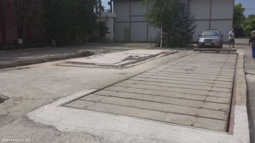 Modernizare cantar auto pod bascula mecanic vechi si prelungire la 18m