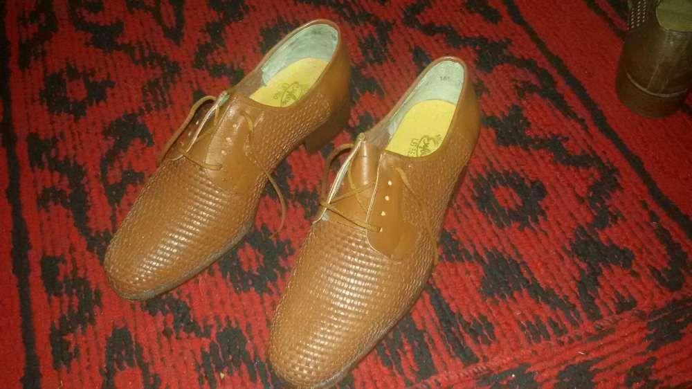 Pantofi bărbătești piele naturala împletită