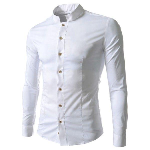 Camisa gola chinesa branca
