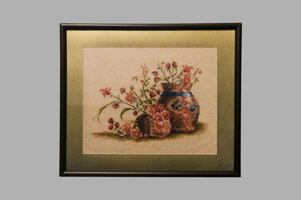 """Вышитая крестиком картина """"Персиковый цвет"""" - отличный подарок!"""