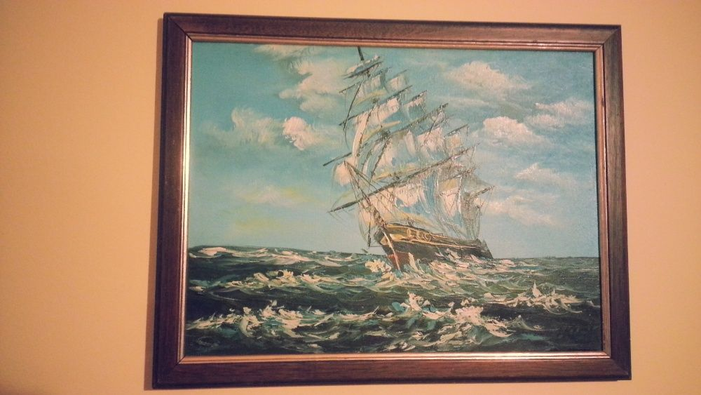tablou corabie ulei panza