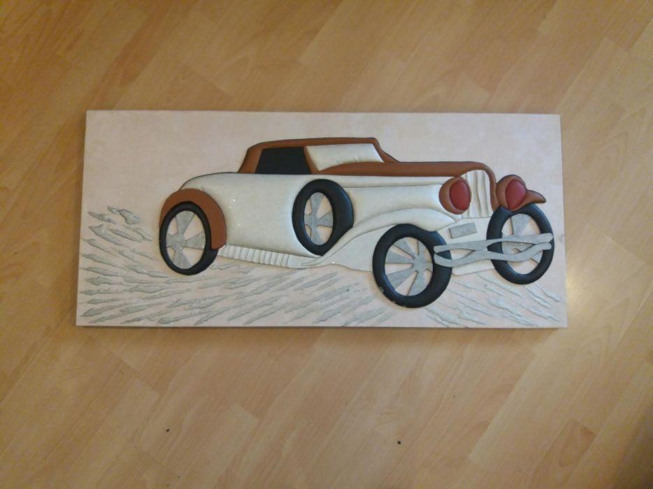 Tablouri si Canvas ( 3D ), lemn, si desenul este din piele artificiala