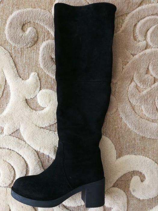 Продаю зимние сапоги ботфорты натуральная замша